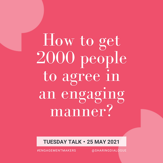 Tuesday Talk: Experiment with Engagement Makers