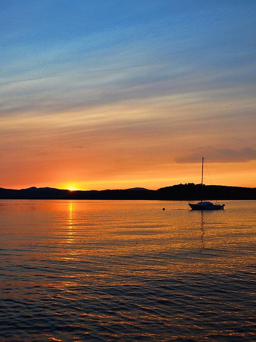 "Sailboat Sunset  11"" x 17"""