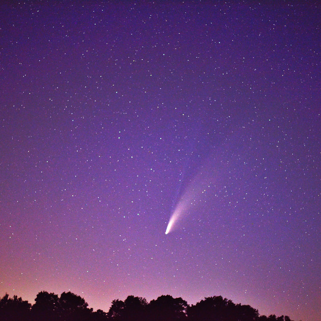 Evening sky and comet