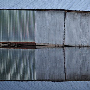 Metal Boathouse Reflection