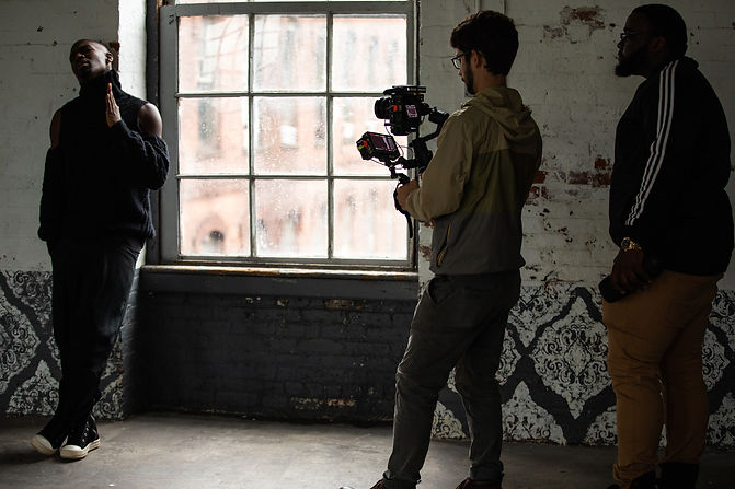 Elijah Ahmad Lewis on the set of his video EVERYTHING