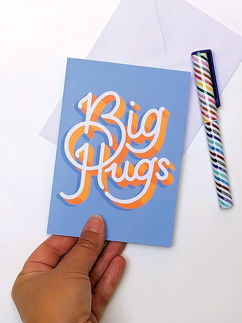 Big Hugs Digital Download Greetings Card