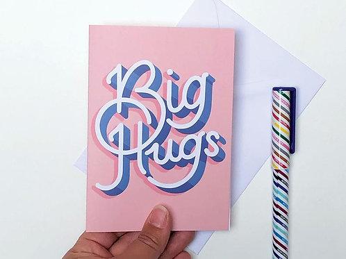 Big Hugs Digital Download Greetings Card