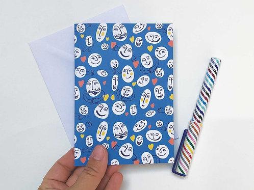 Hugs & Smiles Hand Drawn Greetings Card