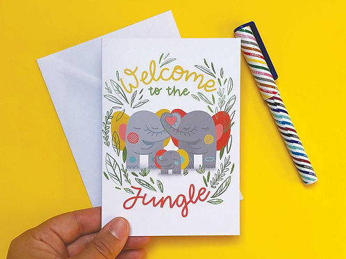 Welcome To The Jungle New Baby Greetings Card