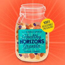 Healthy horizons, reuseable packaging