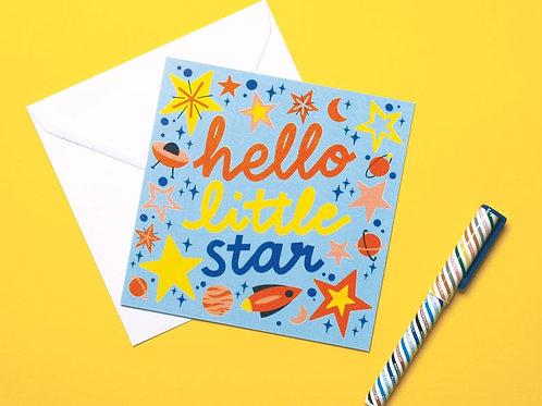 Hello Little Star Hand Drawn Charity Greetings Card