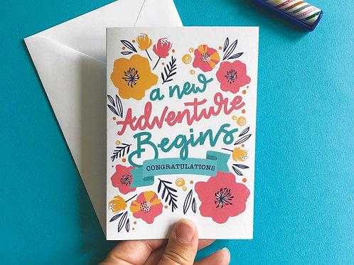 A New Adventure Begins Digital Download Greetings Card