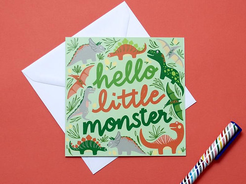 Hello Little Monster New Baby Charity Greetings Card