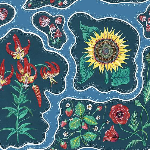 Halcyon Periwinkle-Blue Wallpaper Sample A3