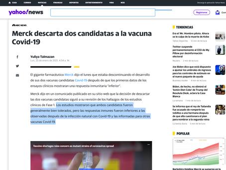Merck descarta dos candidatas a la vacuna Covid-19