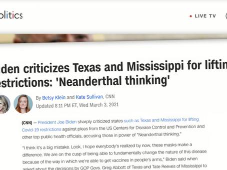 """""""Abrir TEXAS es una Medida Neanderthal""""- Gobierno Federal. ¿Que ha pasado posterior a su apertura?"""