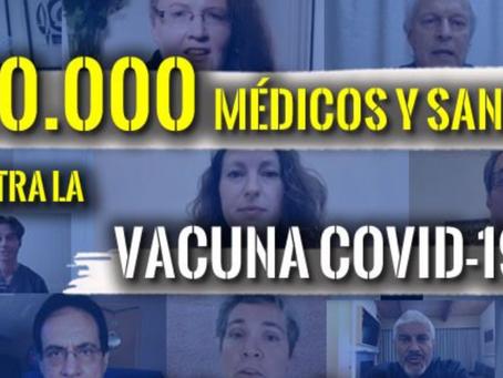 """Cerca de 100.000 Médicos y profesionales sanitarios se unen contra estas """"Vacunas"""""""