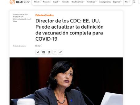 Director de los CDC: EE. UU. Puede actualizar la definición de vacunación completa para COVID-19