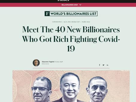 40 Nuevos Multi-Billonarios debido al COVID-19