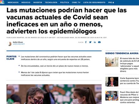 Vacunas actuales de Covid serán ineficaces en un año o menos, advierten los epidemiólogos