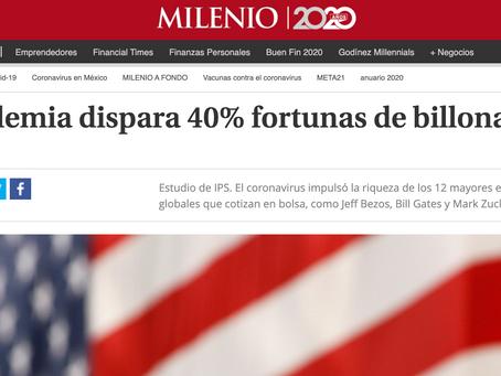 Los Billonarios han Incrementado sus Fortunas en la Pandemia en mas de 10.2 TRILLONES de dólares