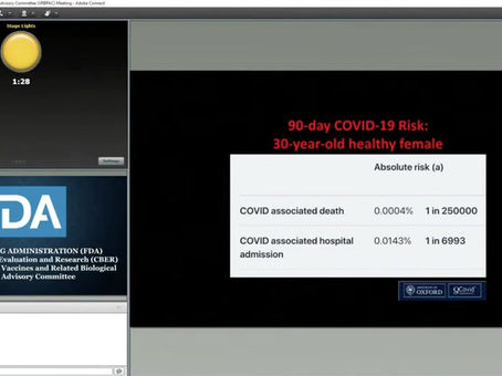 """FDA virtual meeting : """"heart attacks are 71x higher than other vaccines"""""""