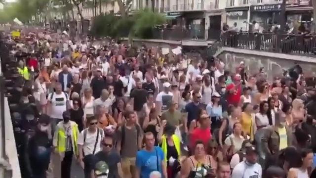 Millones de personas Protestando en Europa