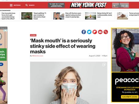 ARTICULO en el NEW YORK POST advierte que acorde a Expertos Mascarillas causan Multiples problemas