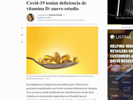 8 de 10 Hospitalizaciones por COVID-19 estaban Deficientes en VITAMINA D