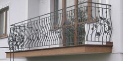 Balustrada zewnętrzna balkonowa