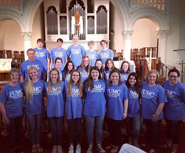 Youth Choir led two wonderful services y