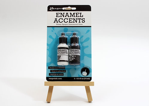 Enamel Accents - Black & White (14ml each)
