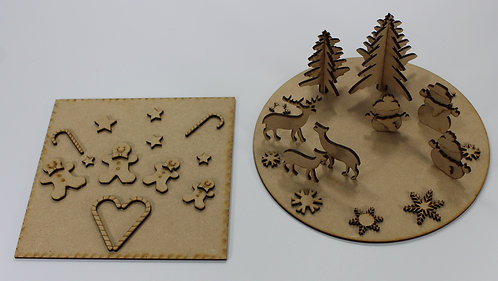 MDF Christmas shapes & bases