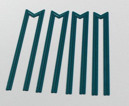 CoolKatzCutz- set of 4 classic never ending banner dies