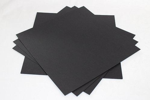 """12"""" x 12"""" true black acid & lignin free card - 20 Sheets (280gsm)"""