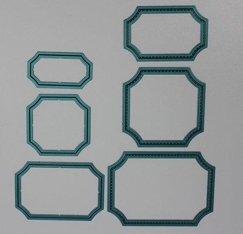 Curved frame die set, set of 6 dies,