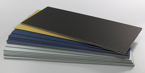"13 1/2"" x 6"" x 20 pieces assorted colour mountboard"