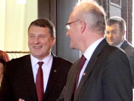 Lettlands Präsident im Brömsehaus