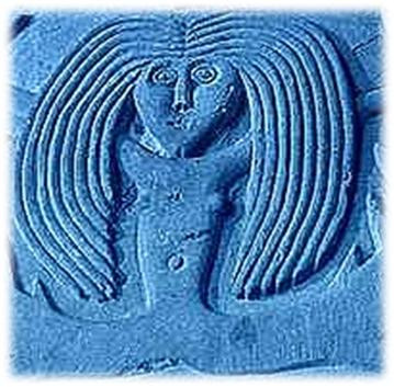 sirena a coda doppia nella pietra