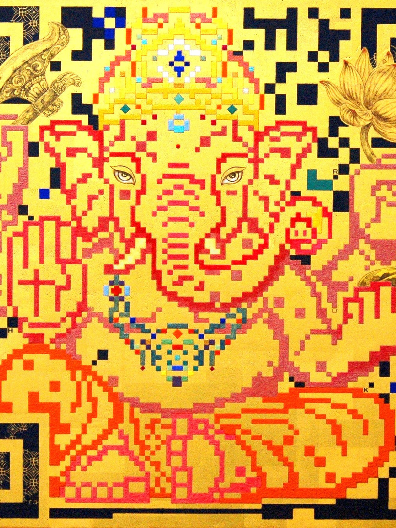 QR - HOPE - ガネーシャへの祈り -       50.0×50.0