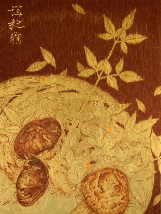 鳶 - 松茸 -       38.0×28.6