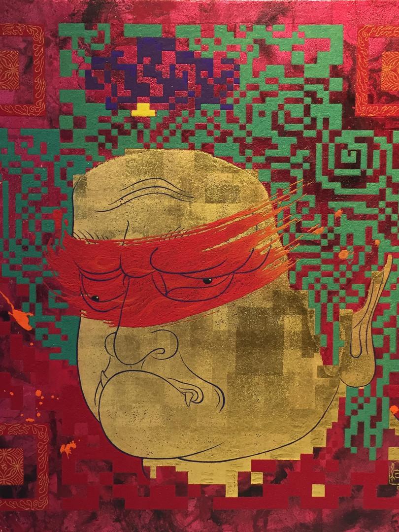 QR-BUDDHA - Basedon the GENTYO style ‐ 42.0×42.0