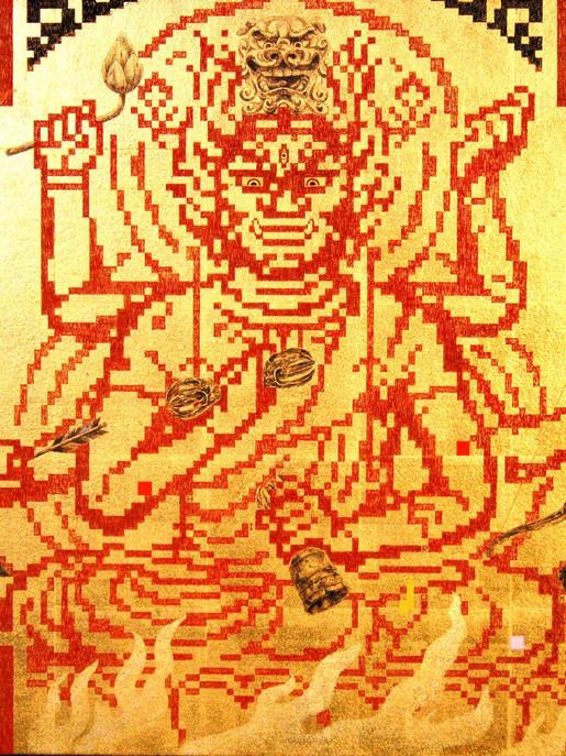 QR - BUDDHA - 愛染明王への祈り     55.0×55.0