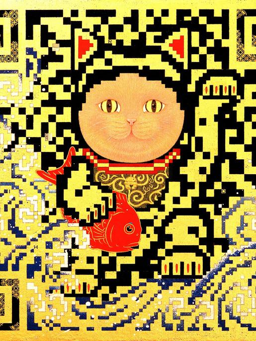 QR - HOPE - LUCKY CAT -     46.0×46.0