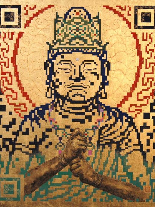 QR - BUDDHA - LOVE&PEACE -        63.0×50.0