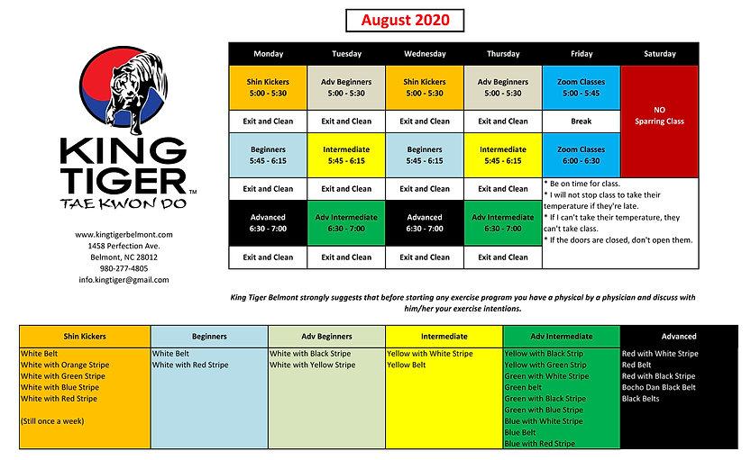 King Tiger Belmont Schedule 2020 - TEMP4