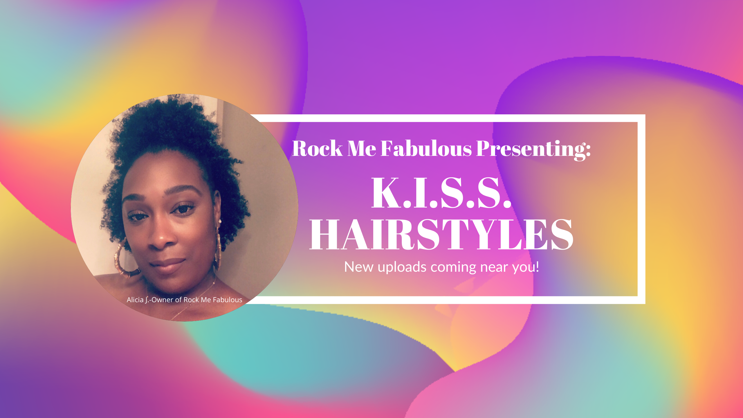 RMF KISS Hairstyles Youtube Channel Art.