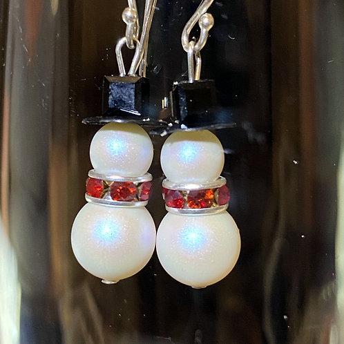 Snowman (pearl) Earrings