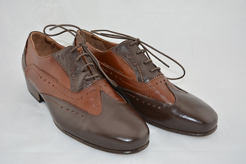Brown two tone Classic with Leather Sole
