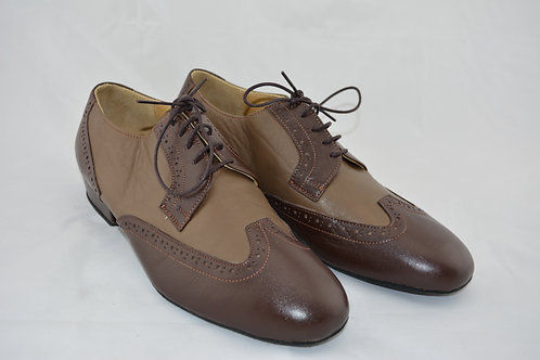 Size 41 Brown two tone Classic with Split suede