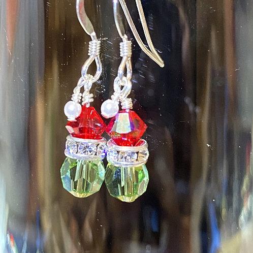 Mini Grinch or Elf (head) Earrings