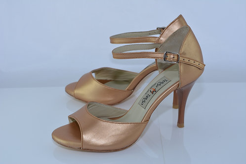 Size 35 Bronze Band Sandal 8cm Heel (S)
