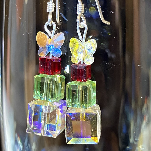 Present stack or Geo Tree Earrings