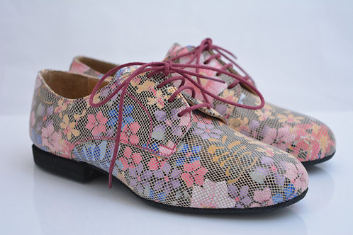 Size 34 Funky Flats Printed Suede with full suede sole